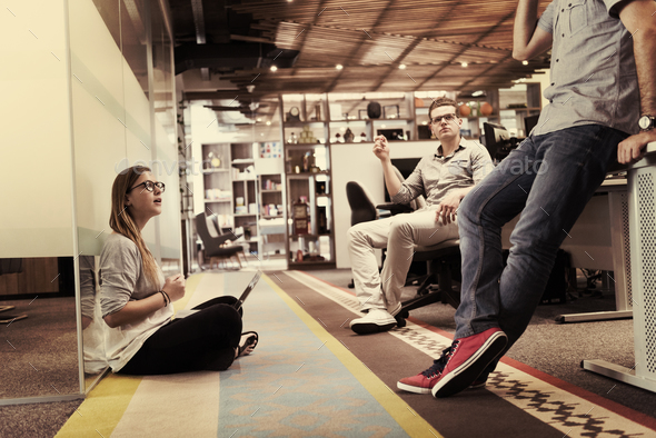 everyday team meeting and brainstorming - Stock Photo - Images