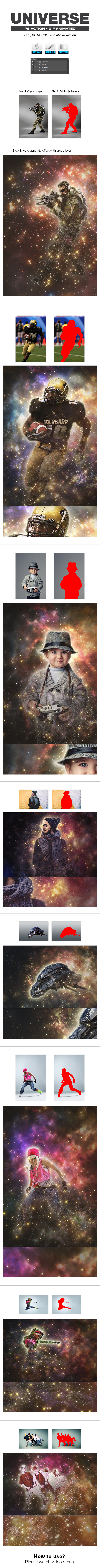 Universe - Photo Effects Actions