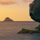 Small Island and Rocks at Sunset - VideoHive Item for Sale