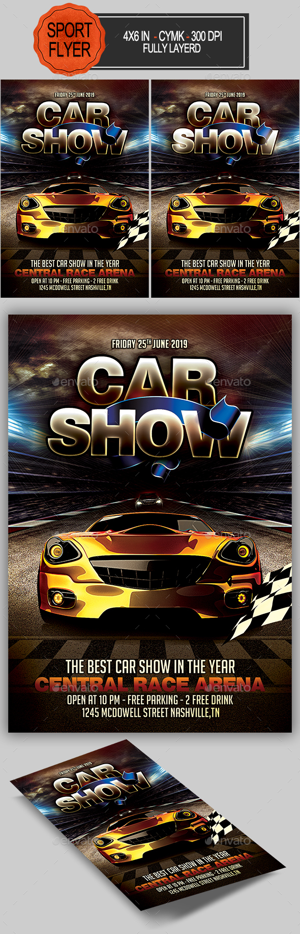 Car Show Flyer - Sports Events