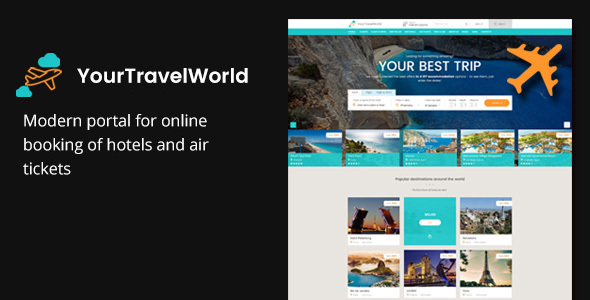 Image of Your Travel World — Online Travel Booking HTML Template