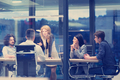 Startup Business Team At A Meeting at modern office building - PhotoDune Item for Sale
