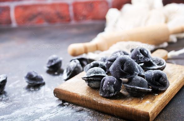 black pelmeni - Stock Photo - Images