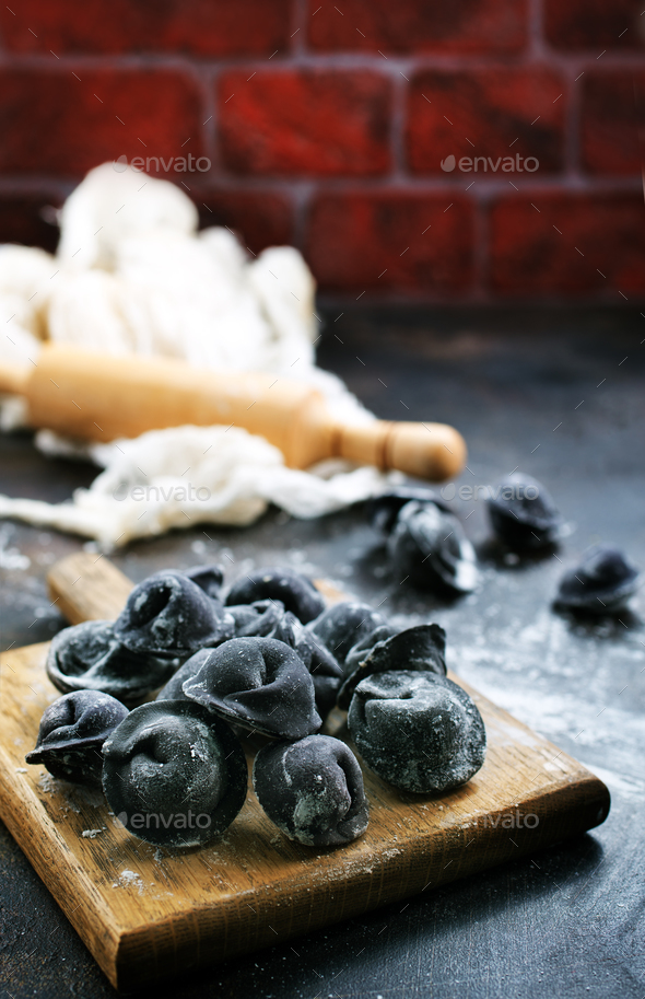 black pelmeni - Stock Photo - Images