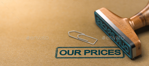 Our Prices,  Pricing and Tariff Conditions - Stock Photo - Images
