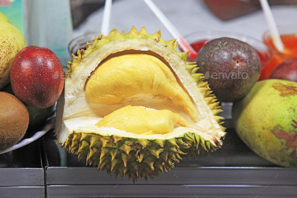 ripe fruit of durian - Stock Photo - Images