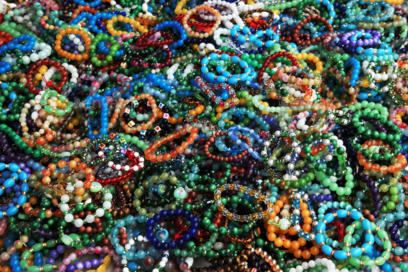 Bracelets on hand. Bijouterie - Stock Photo - Images