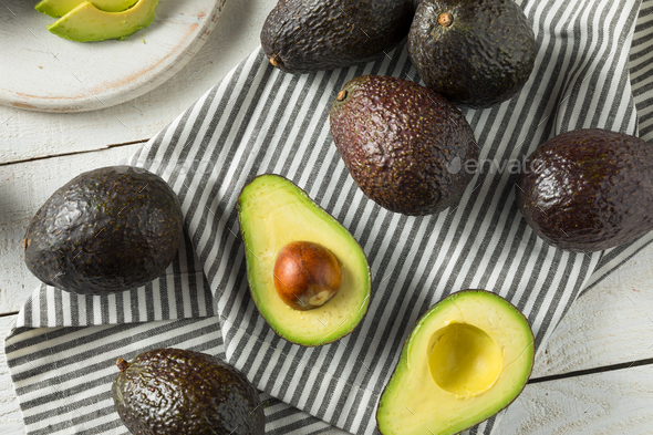 Healthy Organic Green Avocados - Stock Photo - Images