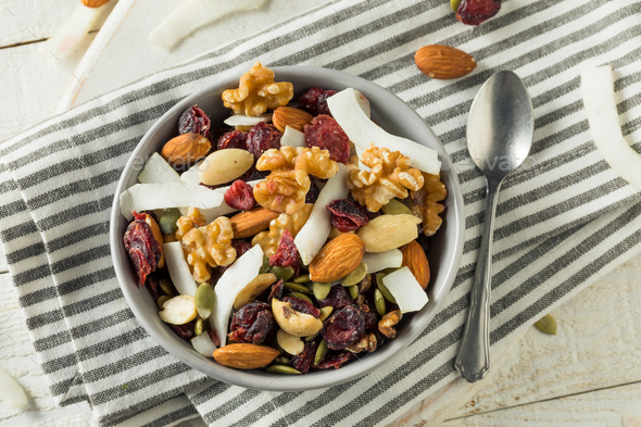 Healthy Homemade Superfood Trail Mix - Stock Photo - Images