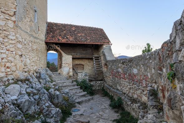 Rasnov citadel, Romania - Stock Photo - Images