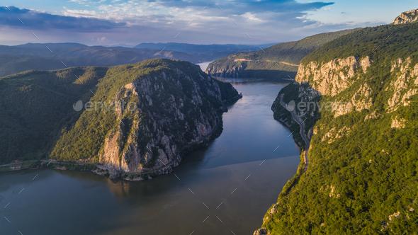 Danube Gorges. Cazanele Mari, Romania - Stock Photo - Images