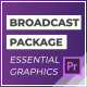 Broadcast Pack | Essential Graphics | Mogrt - VideoHive Item for Sale