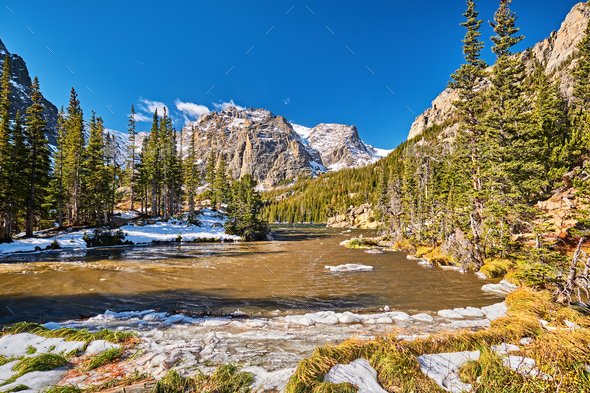The Loch Lake, Rocky Mountains, Colorado, USA. - Stock Photo - Images
