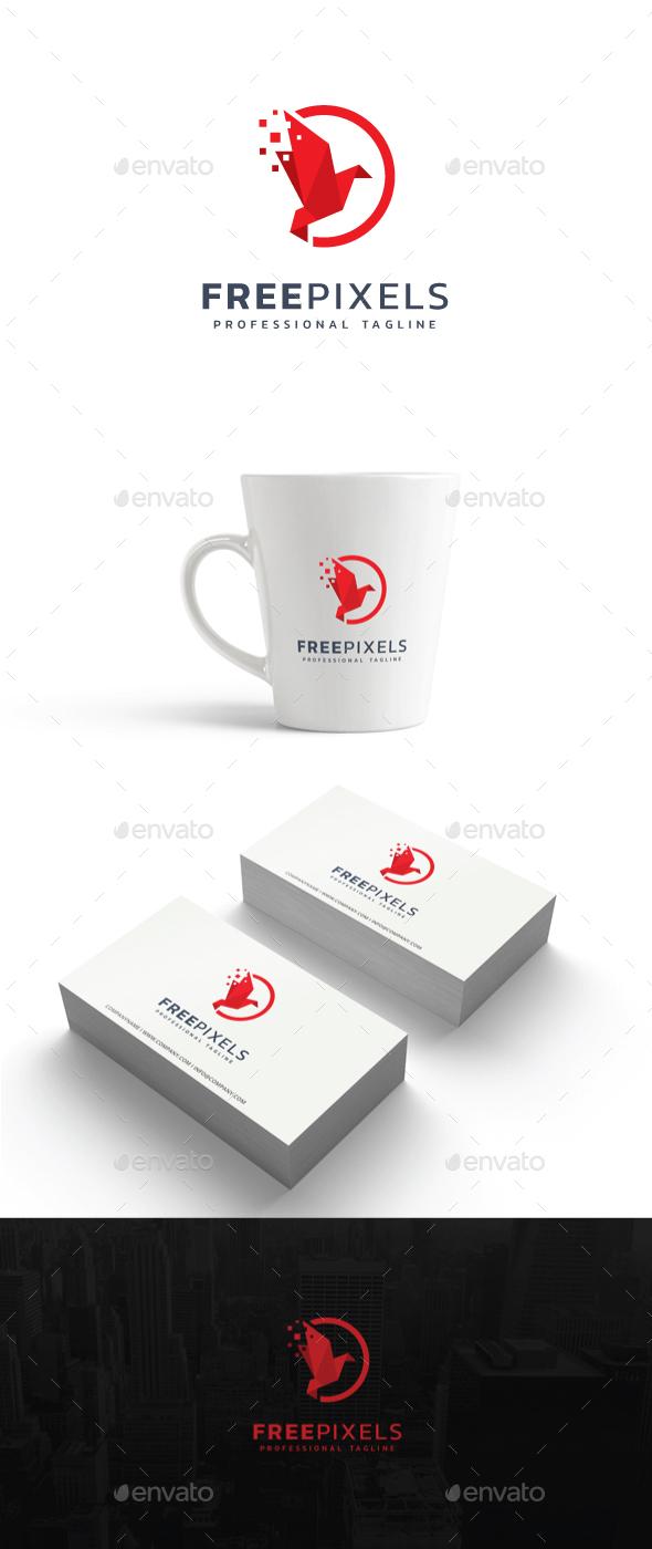 Free Pixels Logo - Abstract Logo Templates