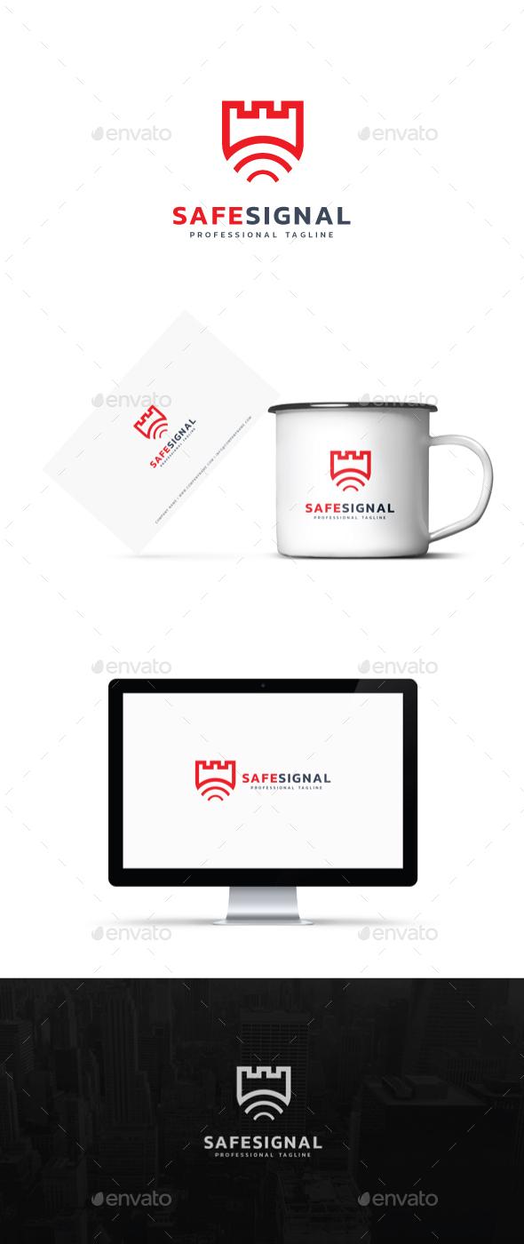 Safe Signal Logo - Abstract Logo Templates
