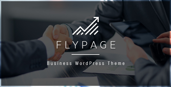 FlyPage - Minimalist Landing Page WordPress Theme - Business Corporate