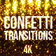 Gold Confetti Transitions - VideoHive Item for Sale