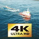 Cinematic Boat at Ocean with Cargo  - VideoHive Item for Sale