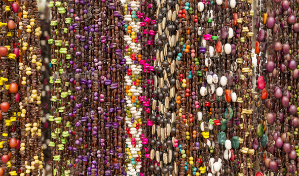 Colorful Beads As Background Pattern - Stock Photo - Images