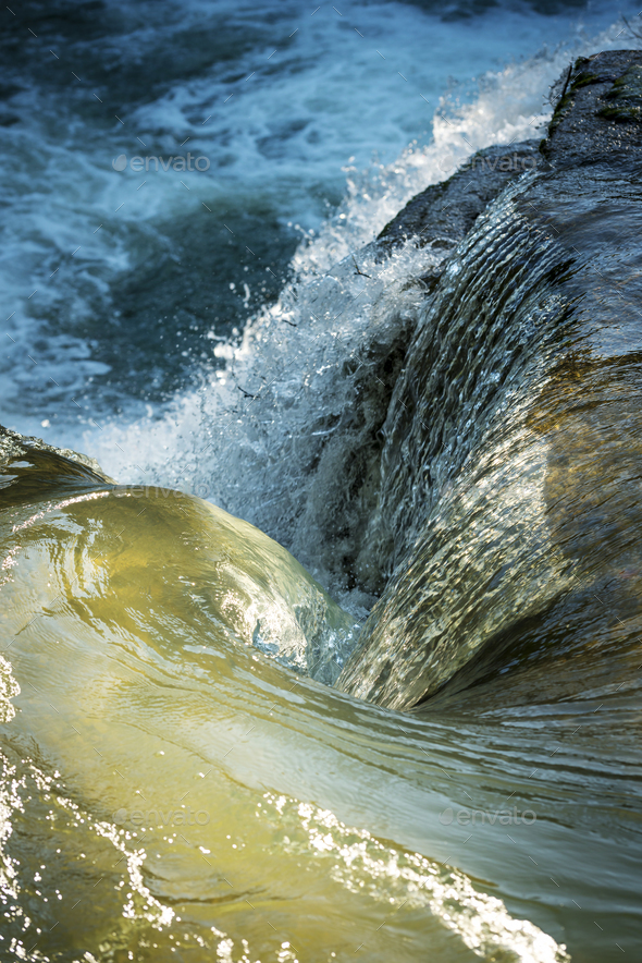 Swirling Water As Natural Wallpaper - Stock Photo - Images