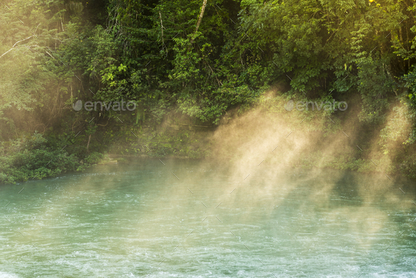 Rio Blanco National Park Belize - Stock Photo - Images