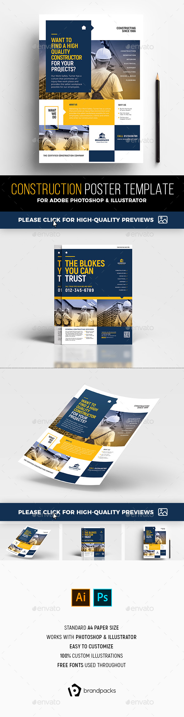Construction Poster Templates - Corporate Flyers