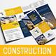 Construction Tri-Fold Brochure Template