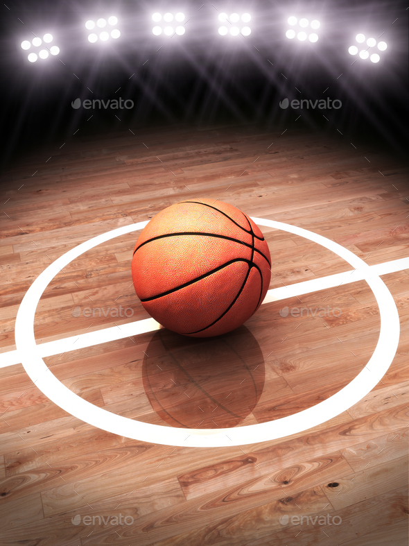 3d rendering of a basketball - Stock Photo - Images