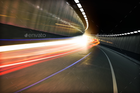 Light tunnel - Stock Photo - Images
