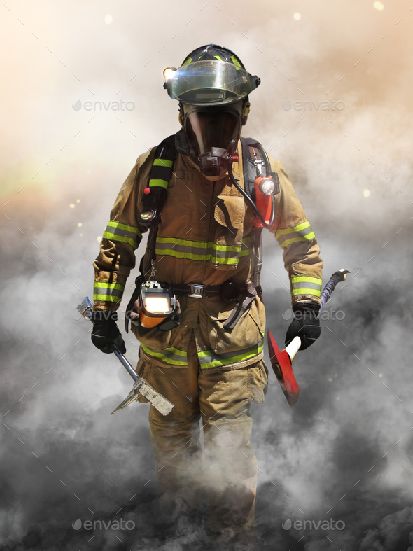 Smoke eater - Stock Photo - Images