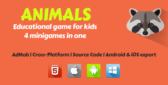 Animals - Educational Game For Kids - CodeCanyon Item for Sale
