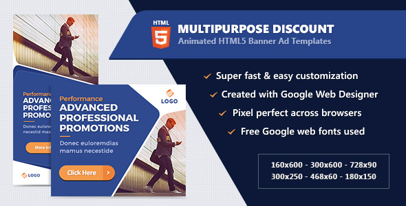 HTML5 Animated Banner Ads - Technology (GWD) Free Download | Nulled