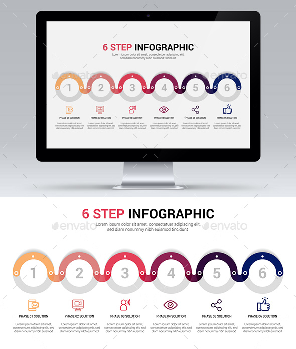 6 Step Infographic - Infographics