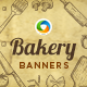 Bakery Banner Set - GraphicRiver Item for Sale