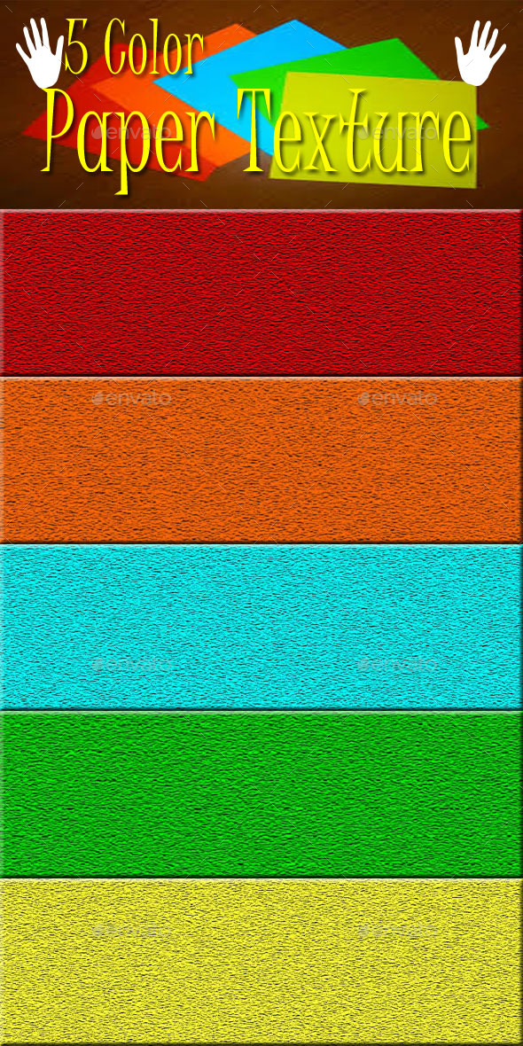 5 Color Paper Textures - 3DOcean Item for Sale