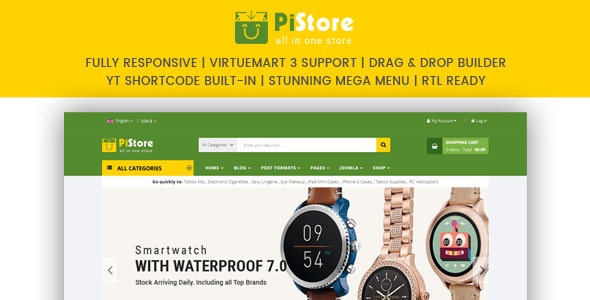 PiStore - Multipurpose eCommerce VirtueMart Template - Retail Joomla