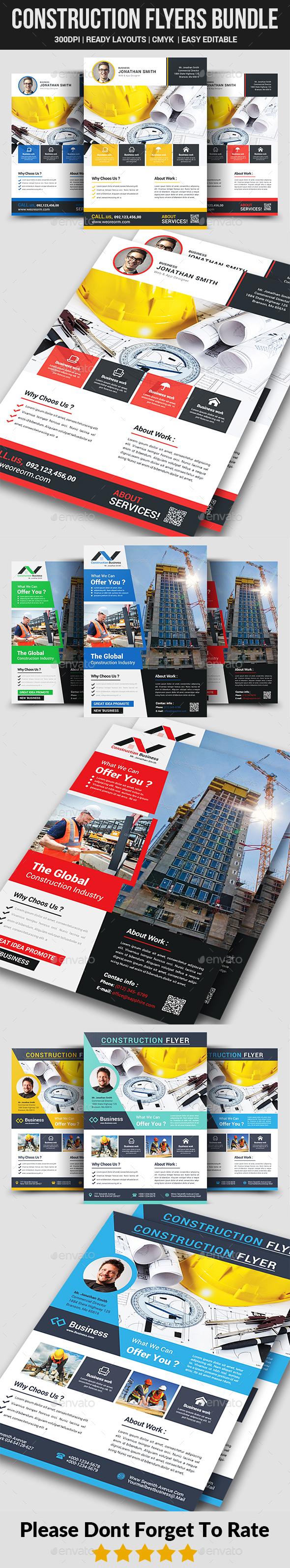 Construction Flyers Bundle - Corporate Flyers