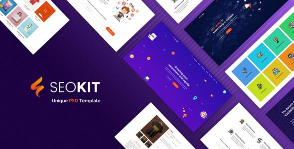 SEOKIT - Digital Marketing & SEO Agency PSD Template. - PSD Templates