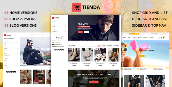 Tienda – eCommerce Joomla Theme with Page Builder