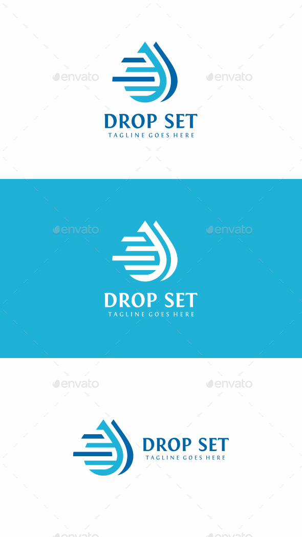 Drop Set Logo - Symbols Logo Templates