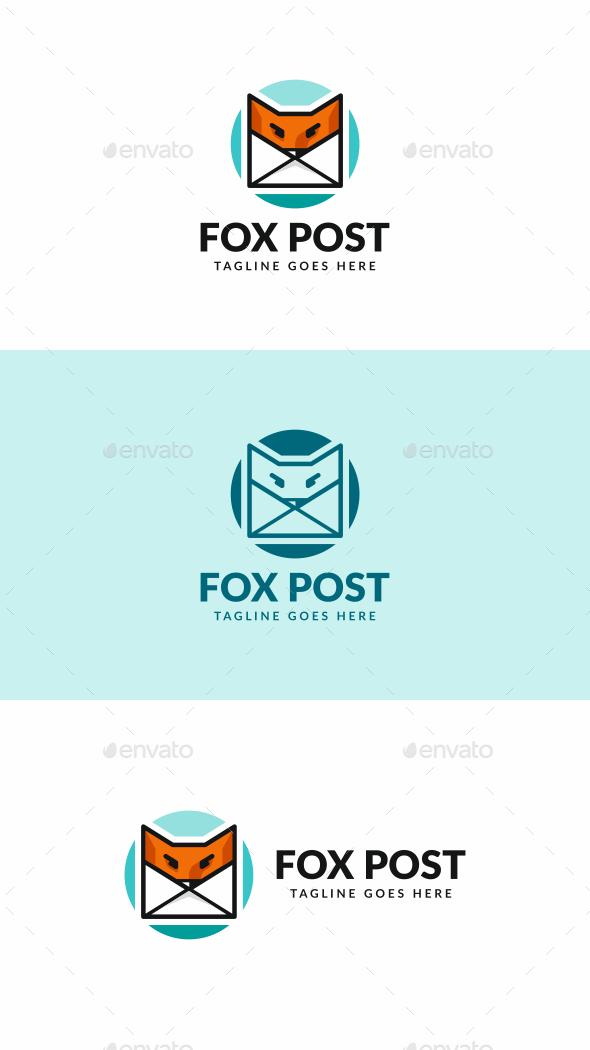 Fox Post Logo - Animals Logo Templates
