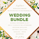 Floral Wedding Invitation Bundle - GraphicRiver Item for Sale