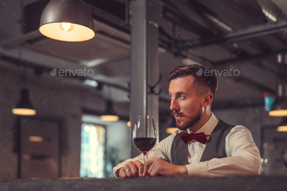 Man in cafe - Stock Photo - Images