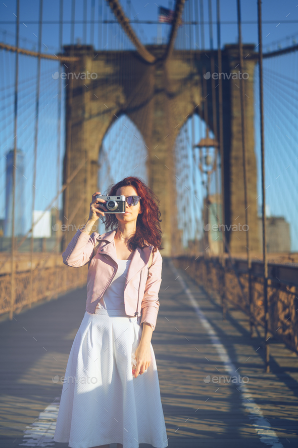 Traveling people outdoors - Stock Photo - Images
