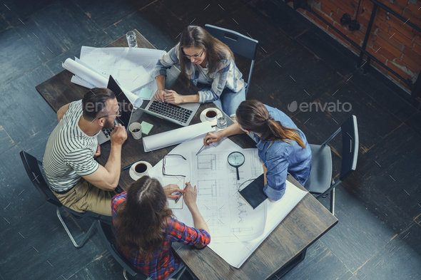 Brainstorm in the loft - Stock Photo - Images