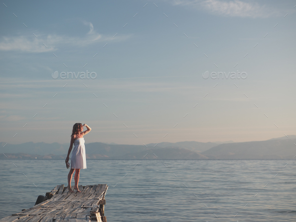 Young girl on vacation - Stock Photo - Images