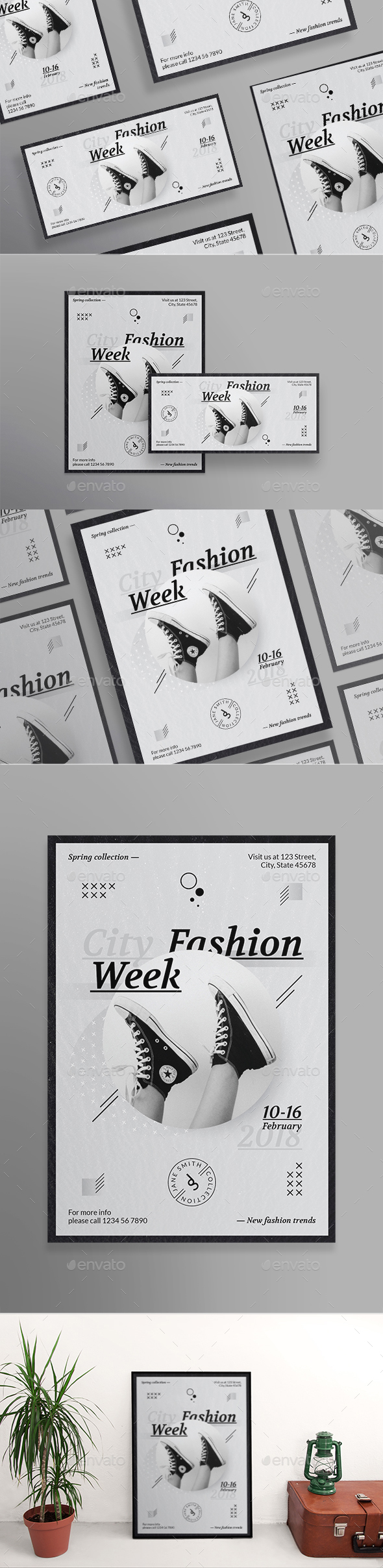 Fashion Week Flyers - Miscellaneous Events