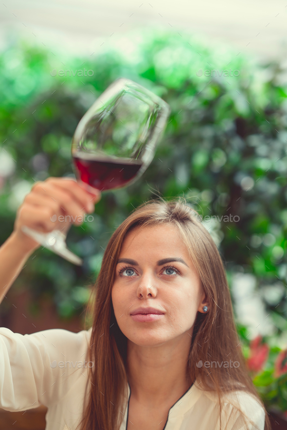 Young sommelier indoors - Stock Photo - Images
