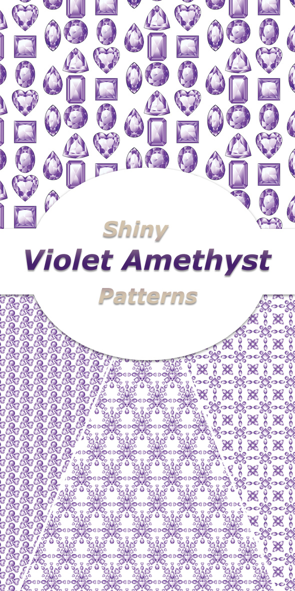 Shiny Violet Amethyst Patterns - Abstract Textures / Fills / Patterns