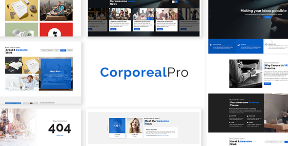 Image of CorporealPro - Business / Corporate / Creative / Agency / Personal / Technology HTML Template